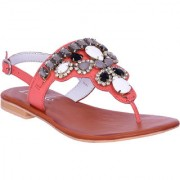 Coral Leather Sandals By Irnado
