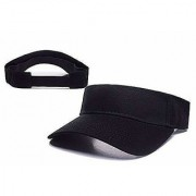 Cotton Sunhat Beach Baseball Visors Tennis Mens/Women's Cap Black