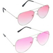 Redleaf Aviator Sunglasses(Red)