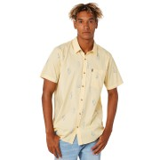 Rip Curl Amigos Ss Mens Shirt Yellow