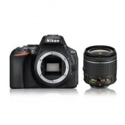 Aparat foto DSLR Nikon D5600, Kit AF-P 18-55mm VR, Negru