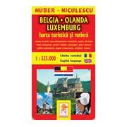 Belgia-Olanda-Luxemburg. Harta turistica si rutiera