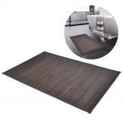 vidaXL 2 db bambusz fürdőszoba szőnyeg 40 x 50 sötétbarna