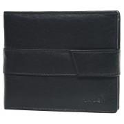 Lagen Bărbați negru portofel din piele neagră V-03