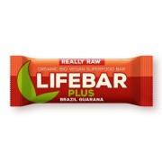 Lifebar Plus baton cu nuci braziliene si guarana raw bio 47g