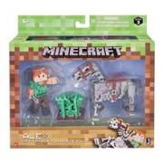 Set Figurine Minecraft Alex Figure With Skeleton Horse