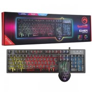 Marvo Scorpion KM409 7 Colour Rainbow Led Usb Gaming Keyboard & Mo