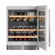 Frigider de vin încorporabil UWTes 1672, 94 L, 34 sticle, Alarmă uşă, Siguranţă copii, Display, Control taste, Iluminare LED, Rafturi lemn, H 87 cm, Clasa B