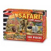 Safari: 100-Piece Floor Puzzle + FREE Melissa & Doug Scratch Art Mini-Pad Bundle [28738]