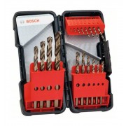 Bosch - HSS-Co DIN338: Toughbox set 18 uds: 1-10