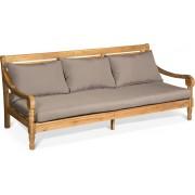Lanterfant® Loungebank Roos – XL tuinbank – Diepe zit – Taupe