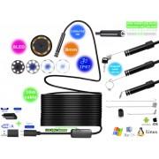 NTR ECAM17 Vízálló endoszkóp kamera 1280x720 HD 2MP 8mm átmérő 8LED USB-C/microUSB/USB 10m