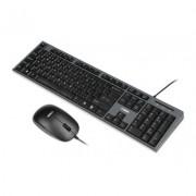 iBOX Zestaw przewodowa klawiatura + mysz IKMS606W czarny + EKSPRESOWA WYSY?KA W 24H