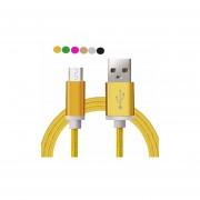 Cable cargador micro usb acabado de aluminio universal , bocinas, camaras - Amarillo