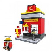 OKOK Diamond Block Building McDonalds Building Stacked toys Blocks Parent-child Games Children's Educational Toys