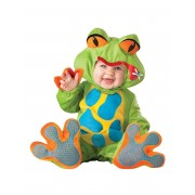 Vegaoo Premium groda - utklädad bebis 74 - 79 cm (12 - 18 månader)