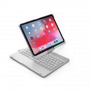 F360B 360-degree Rotary ABS Bluetooth Keyboard Case for iPad Pro 11-inch (2018) - Silver