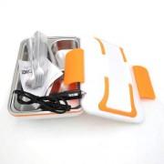 Elektrický LUNCH BOX INOX do auta s oranžový
