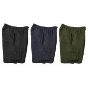 Herren Shorts mit Gummizug, Farbe schwarz, Gr. XXXXXL