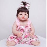 55 Cm Full Body Silicone Reborn Fille Bébé Poupée Jouets Réaliste Bébé-Reborn Poupée Enfants Enfant D'anniversaire Cadeau De Noël Filles