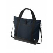 Geanta tote Laptop Everestus WR 15 inch 300D poliester cu tarpaulin albastru saculet si eticheta bagaj incluse