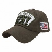 Unisex Cotton High Quailty Adjustable Caps Hats Sports Tennis Baseball Cap(Khaki-AFNY)