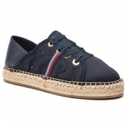 Еспадрили TOMMY HILFIGER - Flat Espadrille Corporate Ribbon FW0FW03801 Midnight 403