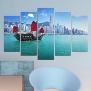 Декоративeн панел за стена с изглед от Хонконг Vivid Home