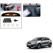 Auto Addict Car White Reverse Parking Sensor With LED Display For Maruti Suzuki Baleno Nexa