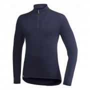 Woolpower - Zip Turtleneck 400 - Manches longues taille 3XL, noir/bleu