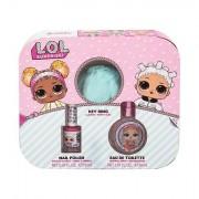 EP Line LOL Surprise confezione regalo eau de toilette 30 ml + smalto unghie 10 ml + portachiavi per bambini
