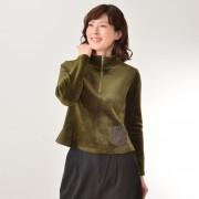 KidsAngel ベロアプルオーバー【QVC】40代・50代レディースファッション