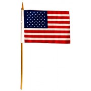 Loftus International Patriotic Stars and Stripes Flag (6 Pack), Red/White Blue, 6""