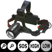 Rechargeable Zoomable Cree Led Headlight Head Lamp Light Torch Flashlight - 38 B