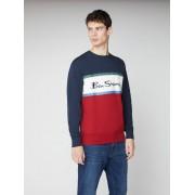 Ben Sherman Signature Colour Blocked Logo Sweatshirt XXXL Dark Navy