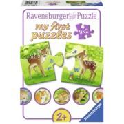 Primul Meu Puzzle Animalute, 9X2 Piese Ravensburger