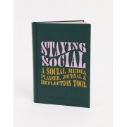Typo A5 notebook with slogan 'staying social'-Multi