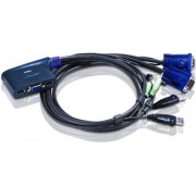ATEN 2-Port USB VGA/Audio Cable KVM Switch (0.9m)
