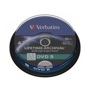 Verbatim MDISC Lifetime Archival DVD R 4x 4.7GB Spindle 10
