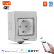 WiFi Inteligentná vode-odolná zásuvka IP55 - Tuya Smart life