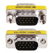 Mini Gender Changer VGA DB 15 poli HD M/M