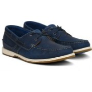 Clarks Fulmen Row Navy Leather Corporate Casuals For Men(Navy)