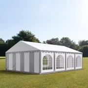 taltpartner.se Partytält 5x8m PVC 500 g/m² grå-vit vattentät