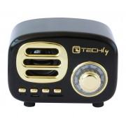 Radio Speaker Bluetooth Wireless, Design Radio Classico, nero