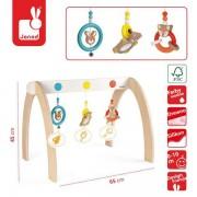 JANOD Drewniany Stojący łuk aktywizujący dla niemowląt Baby Pop - jak mata edukacyjna,