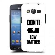 Husa Samsung Galaxy Core 4G LTE G386F Silicon Gel Tpu Model Low Battery B&W