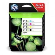 HP Confezione da 4 cartucce di inchiostro originali 912XL nero/ciano/magenta/giallo
