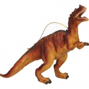 Geen 1x Kersthangers dieren figuurtjes dinosaurus Velociraptor 10 cm