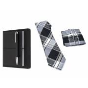 Business Gift Set Agenda cu Pix Hugo Boss si Cravata cu batista costum