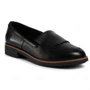 Обувки CLARKS - Griffin Kilt 261504064 Black Leather
